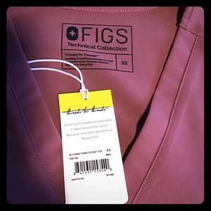 Figs scrubs casma 3 pocket mauve XS